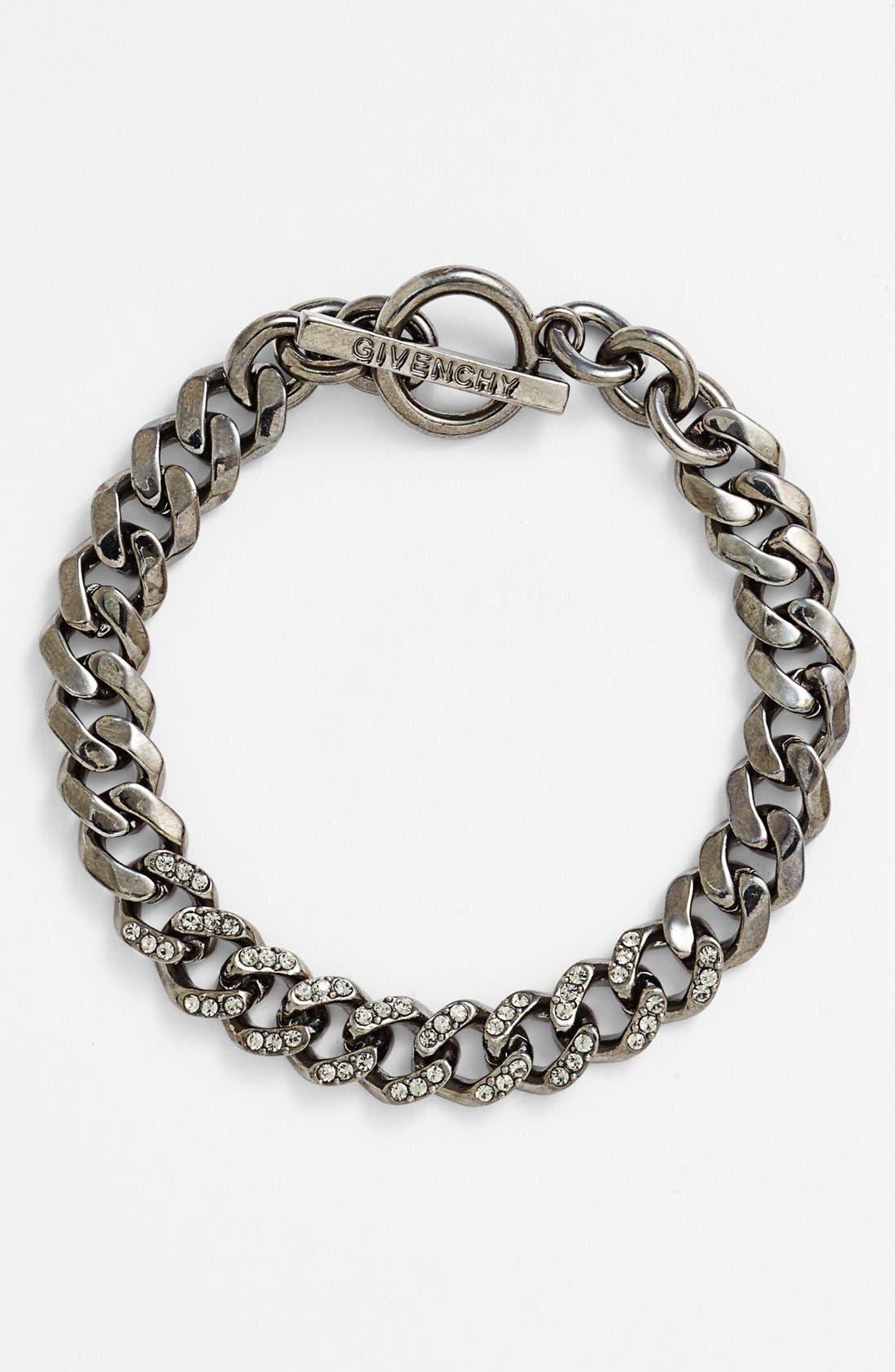 Main Image - Givenchy Pavé Chain Link Toggle Bracelet