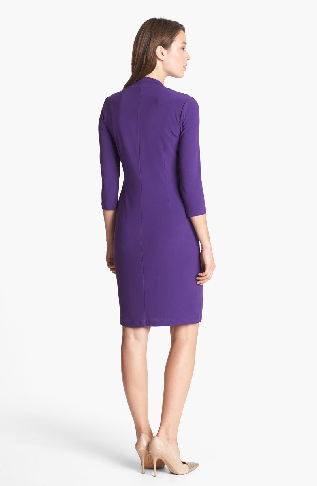 Alternate Image 2  - Ellen Tracy Draped Crepe Dress