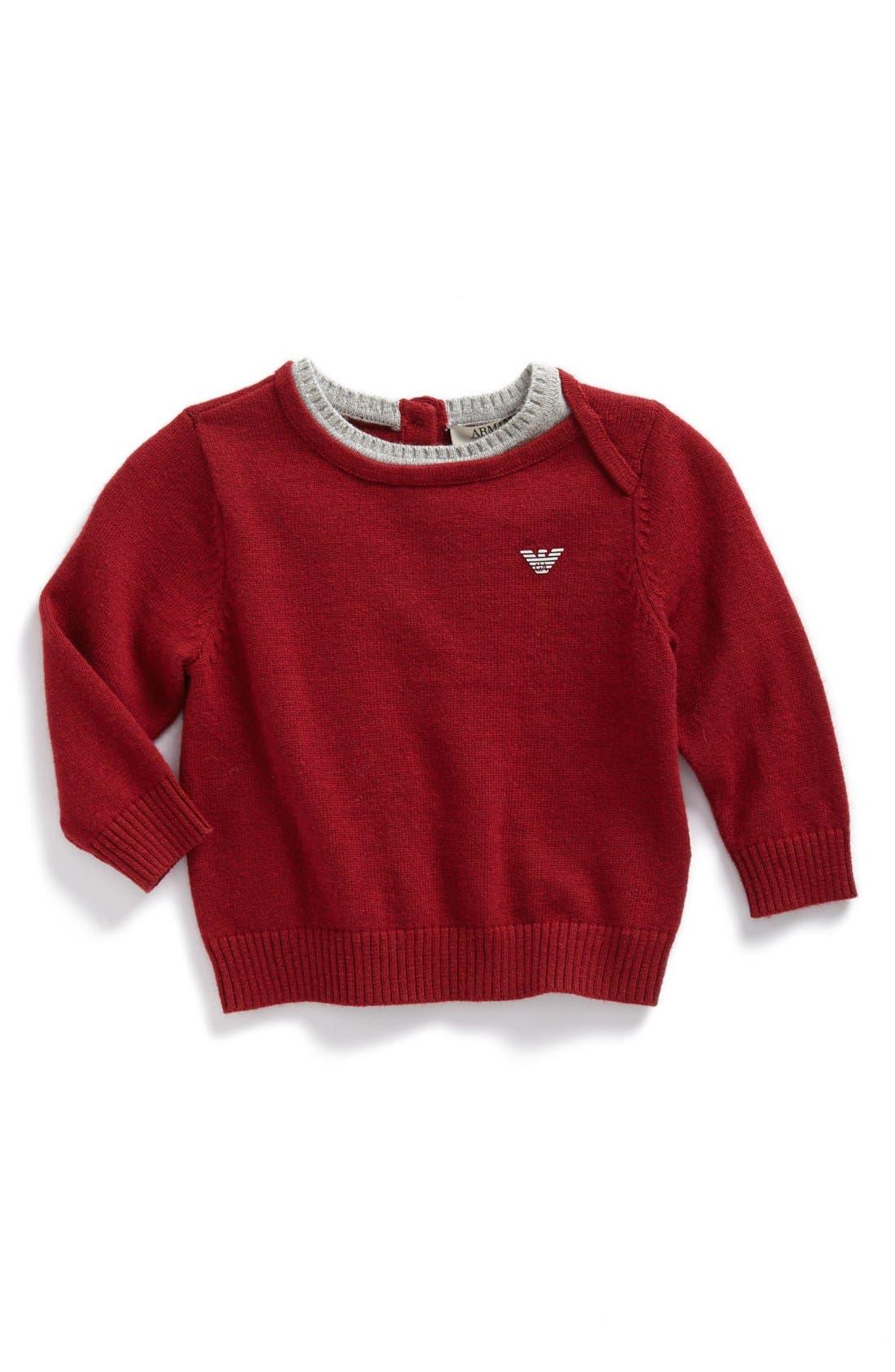 Main Image - Armani Junior Knit Sweater (Baby Boys)