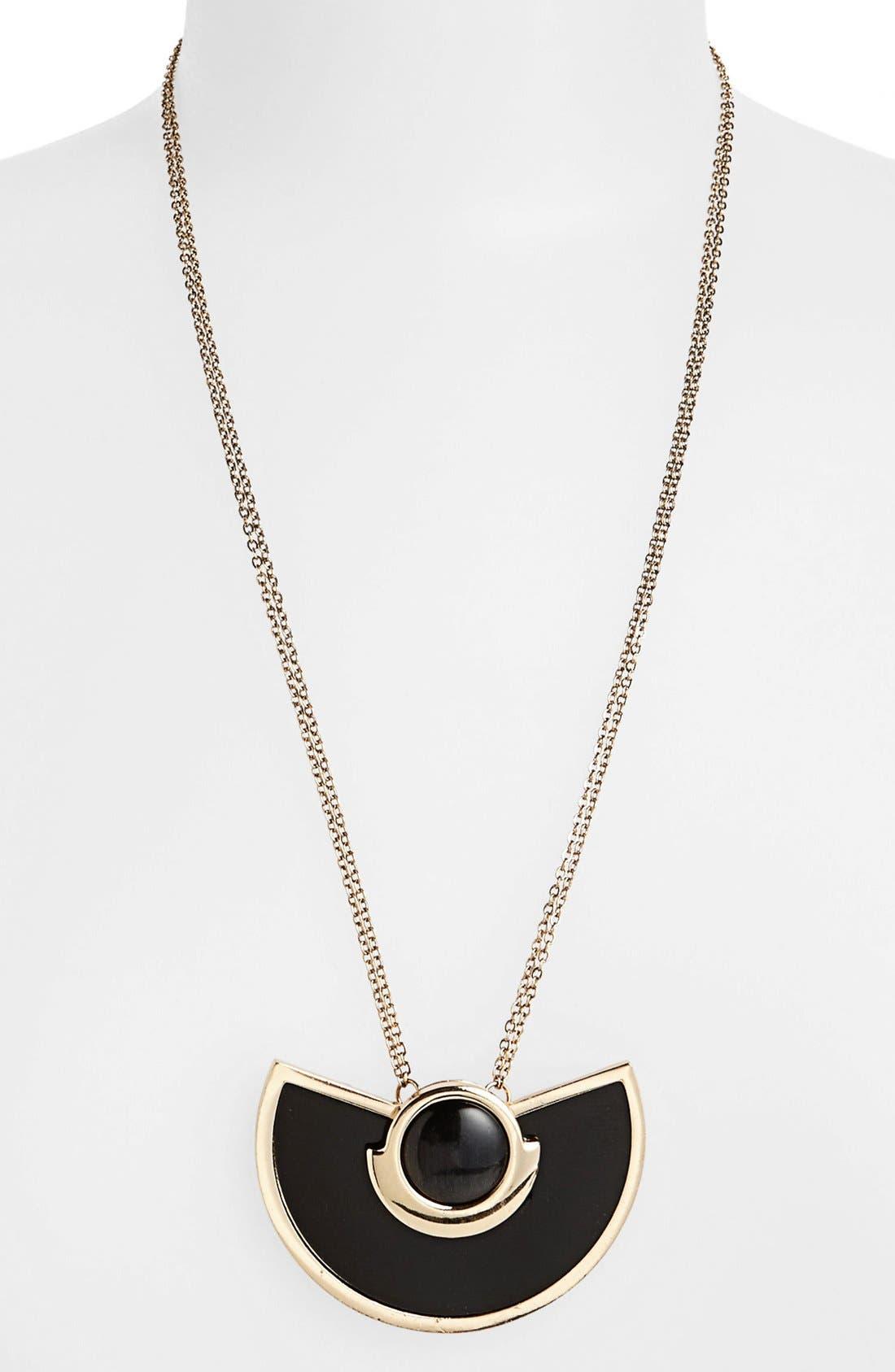 Main Image - Topshop Semi Circle Stone Pendant Necklace