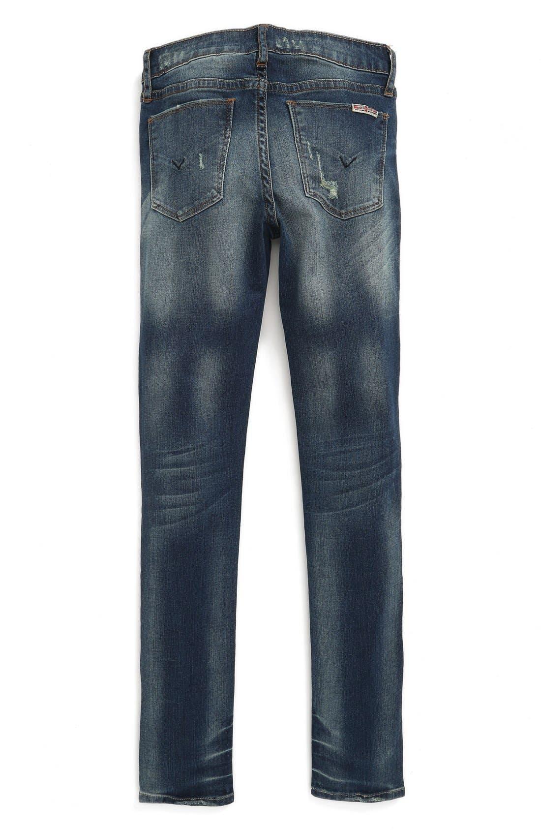 Alternate Image 2  - Hudson Kids 'Dolly' Skinny Jeans (Big Girls)