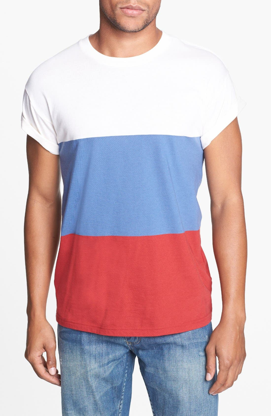 Alternate Image 1 Selected - Topman Block Stripe T-Shirt