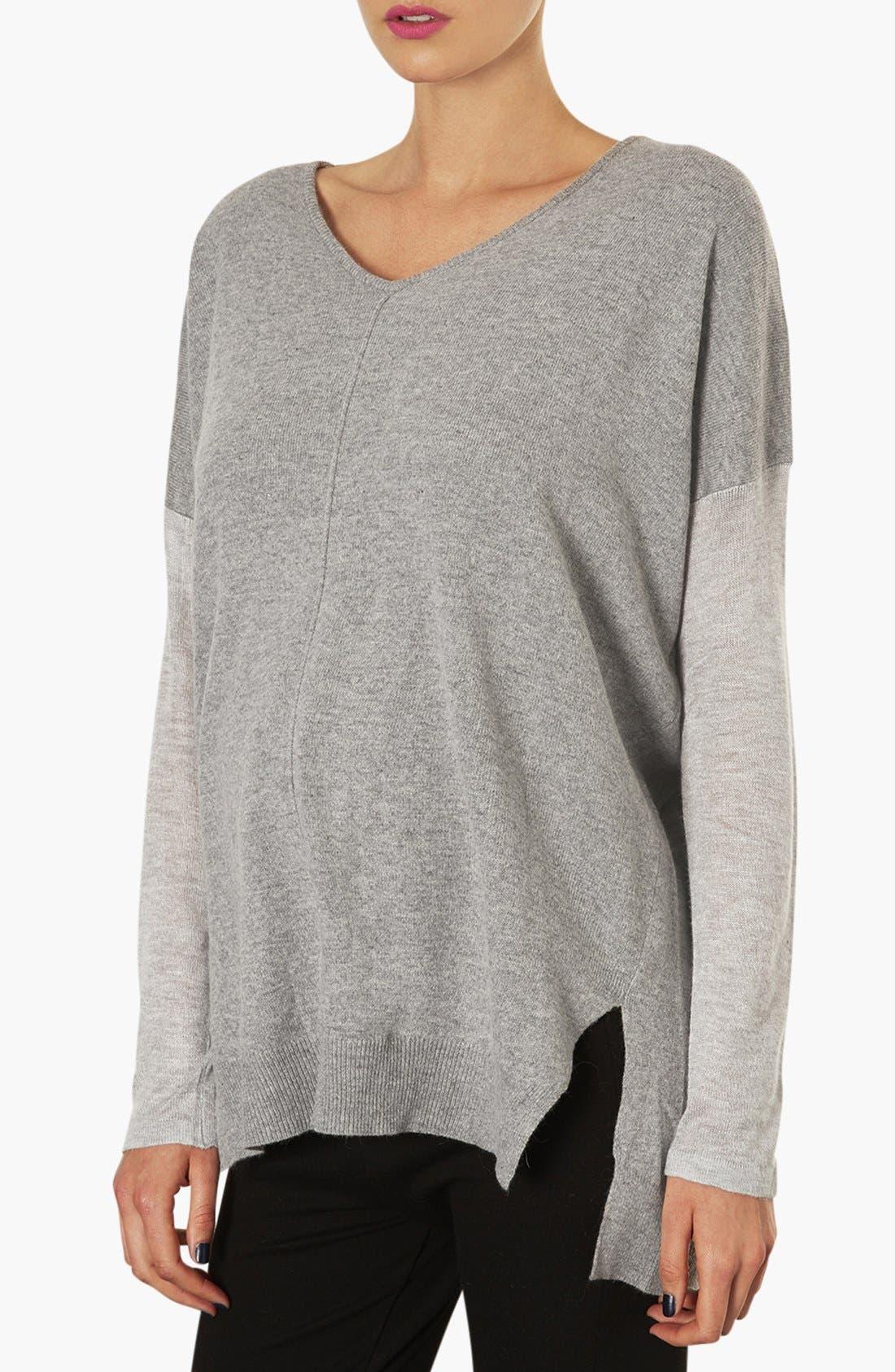 Alternate Image 1 Selected - Topshop V-Neck Maternity Sweater