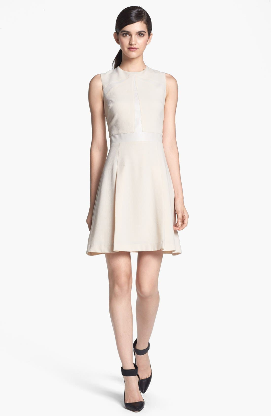 Alternate Image 1 Selected - Search for Sanity Tonal Inset Fit & Flare Dress