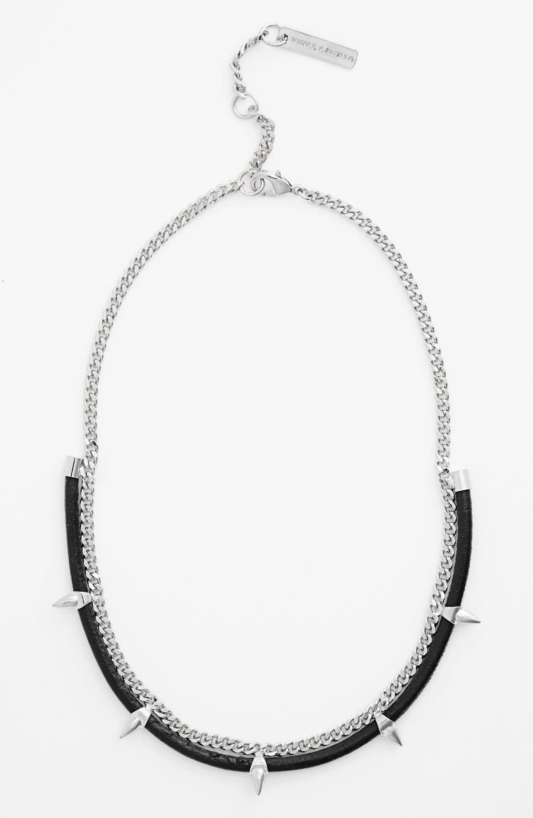 Alternate Image 1 Selected - Vince Camuto 'Bullet Proof' Studded Frontal Necklace