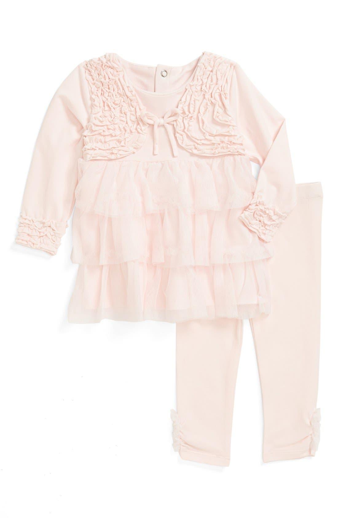 Alternate Image 1 Selected - Miniclasix Top & Leggings (Baby Girls)