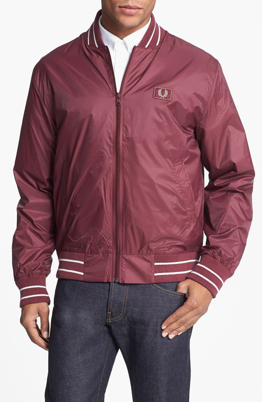 Alternate Image 1 Selected - Fred Perry Tipped Bomber Jacket