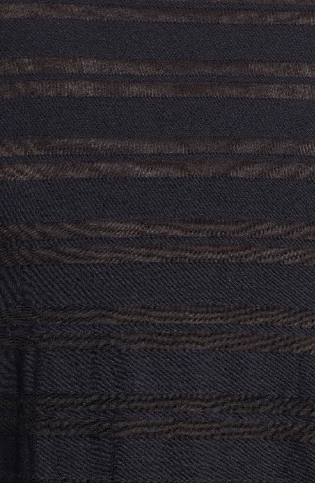 Alternate Image 3  - James Perse Sheer Stripe Hoodie