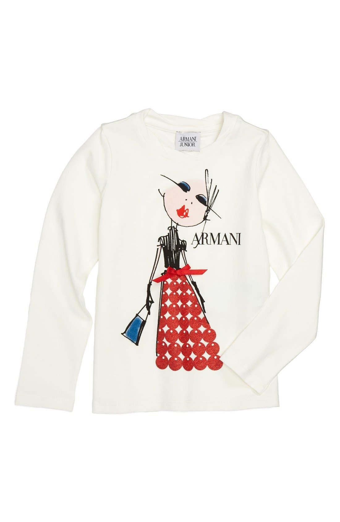 Main Image - Armani Junior 'Armani Girl' Tee (Toddler Girls, Little Girls & Big Girls)