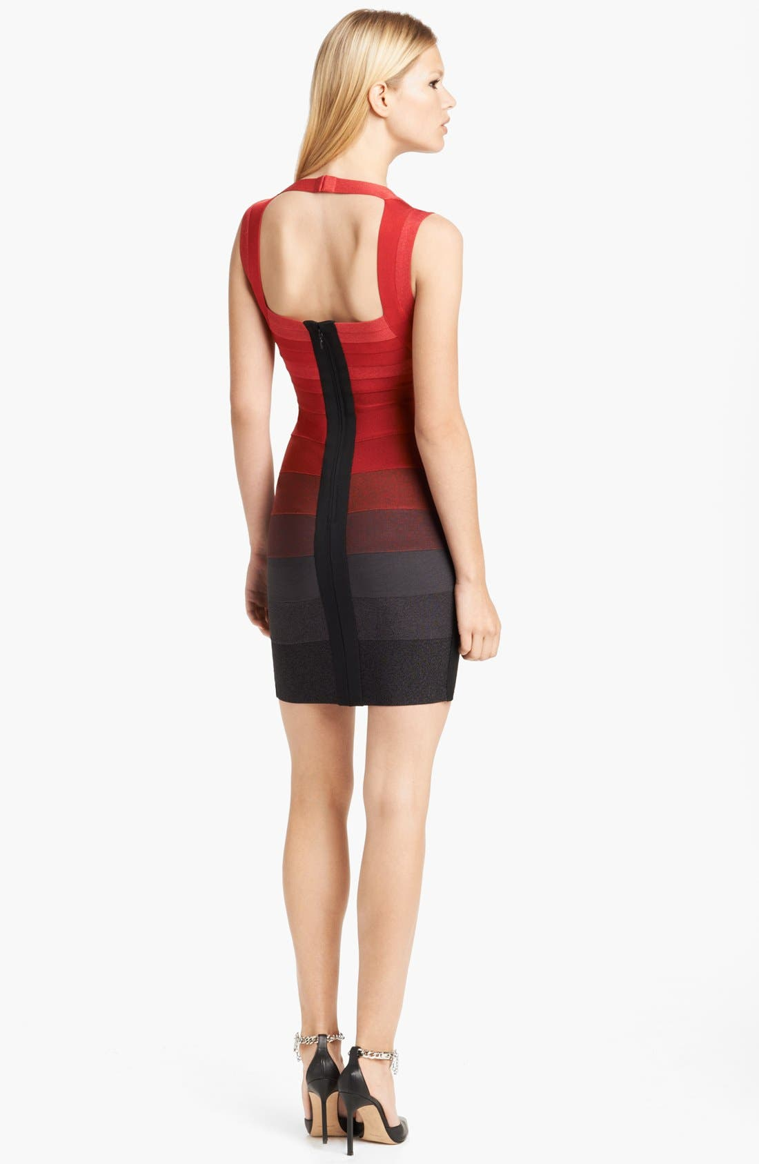 Alternate Image 2  - Herve Leger Ombré Bandage Dress