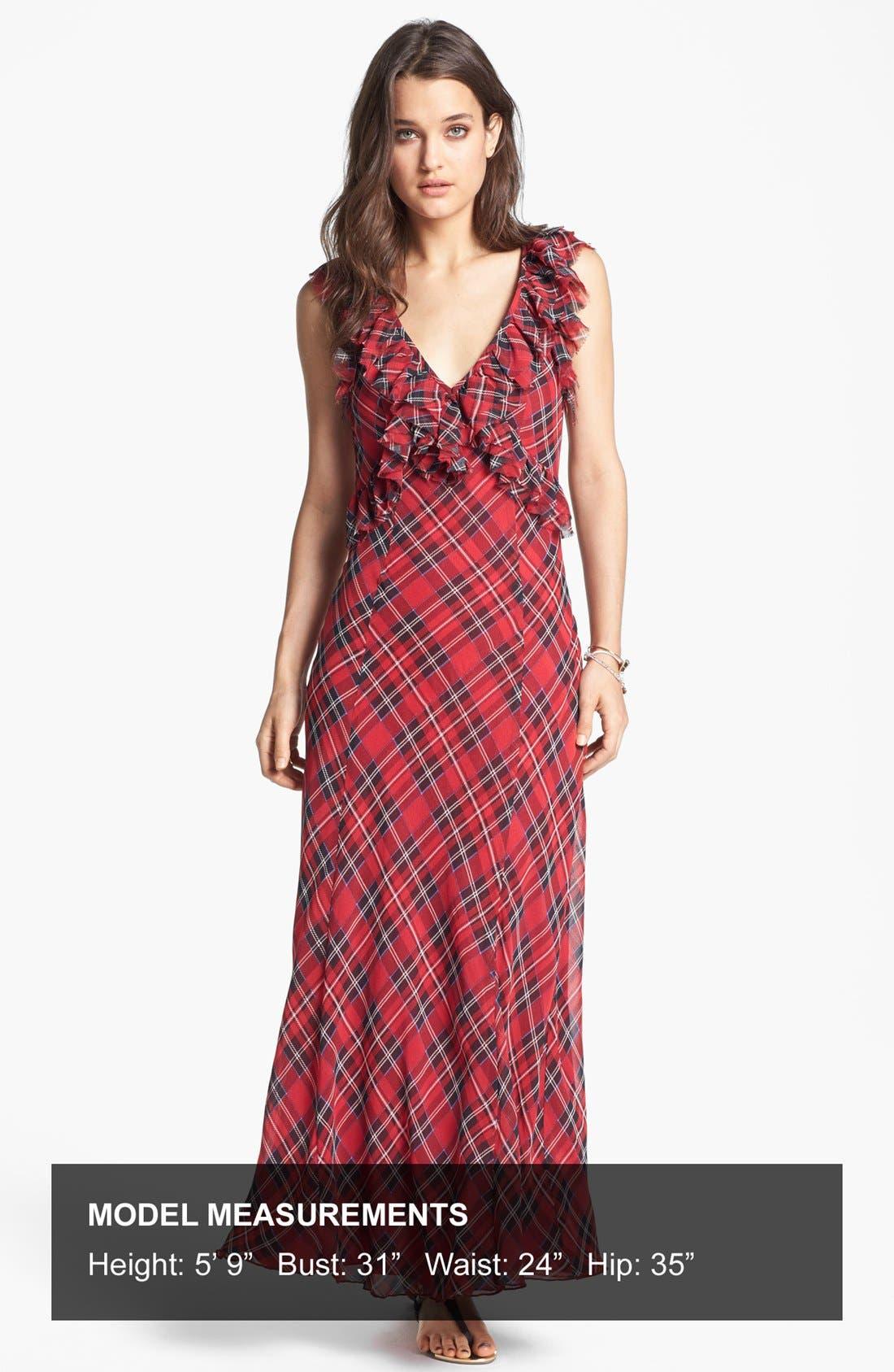 Alternate Image 4  - Free People 'Venitia' Ruffled Plaid Maxi Dress
