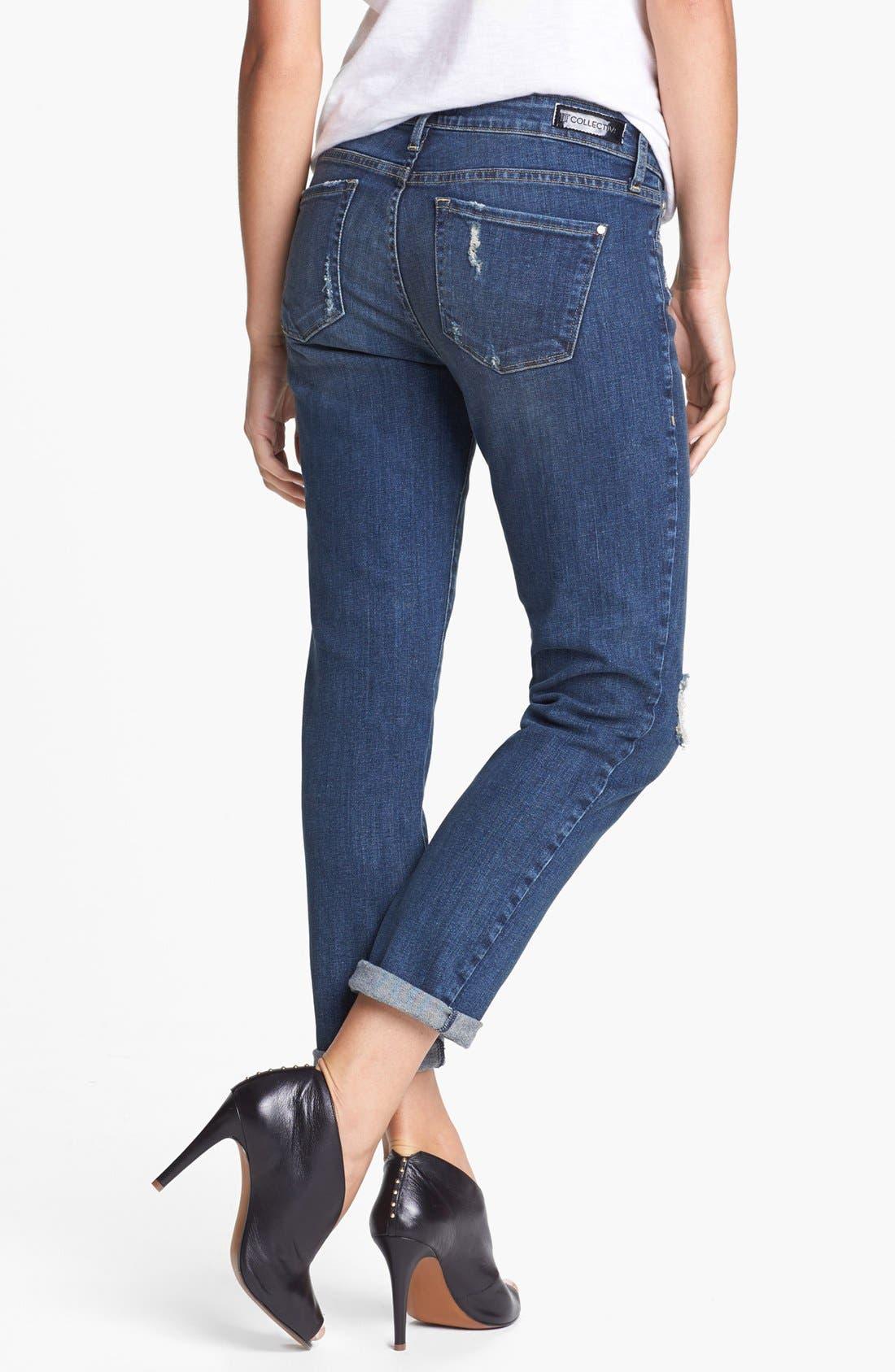 Alternate Image 2  - !iT Collective 'Hepburn' Stretch Boyfriend Jeans (Mac Coy)