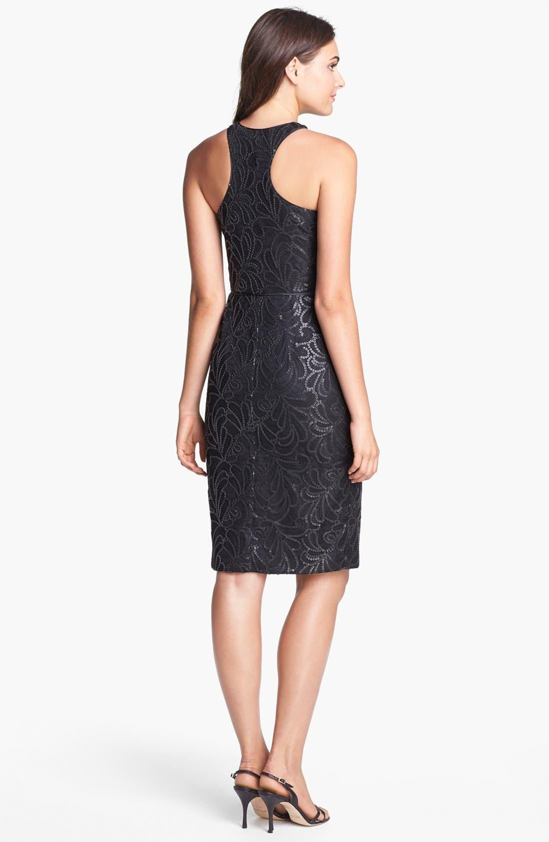 Alternate Image 2  - Jill Jill Stuart Faux Leather Sequin Embellished Sheath Dress