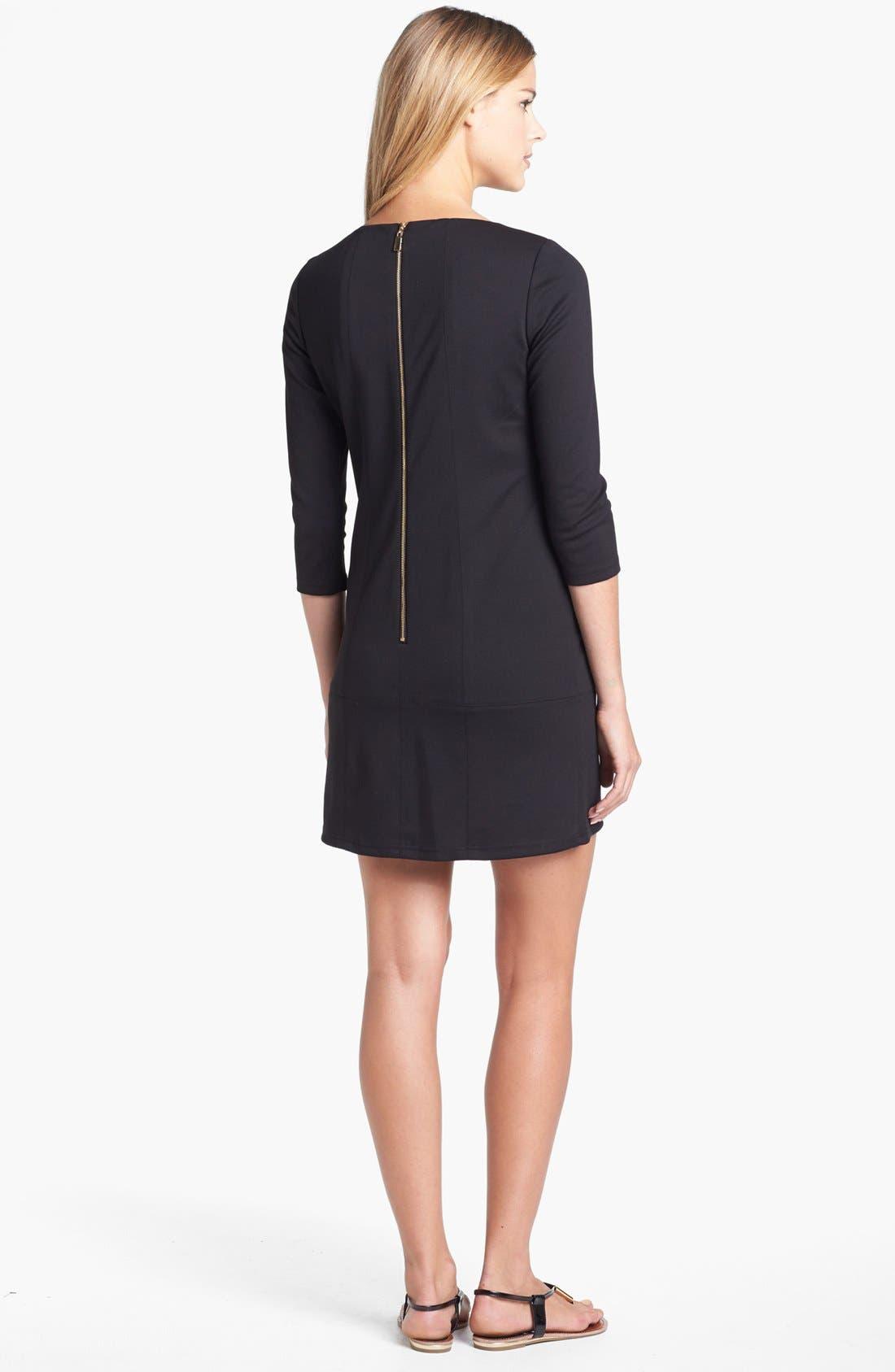 Alternate Image 2  - Vince Camuto Embellished Neck Ponte Knit Dress
