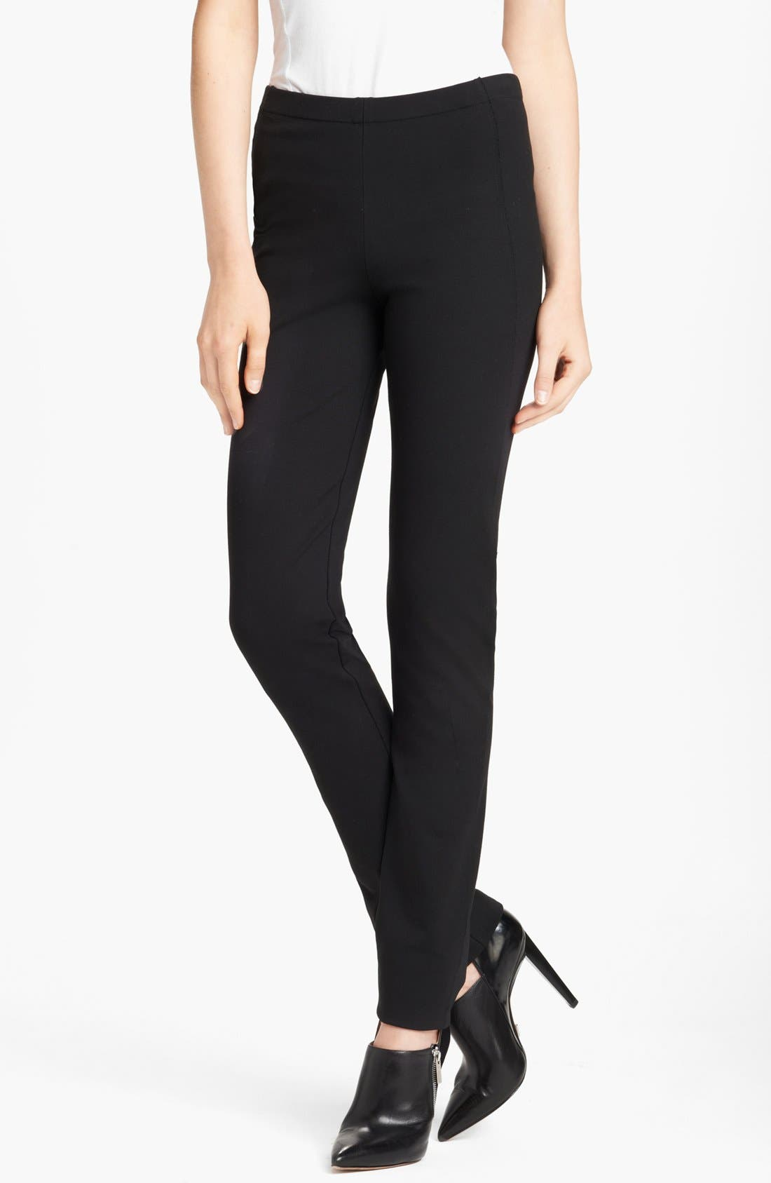 Main Image - Donna Karan Collection Straight Leg Structured Jersey Pants