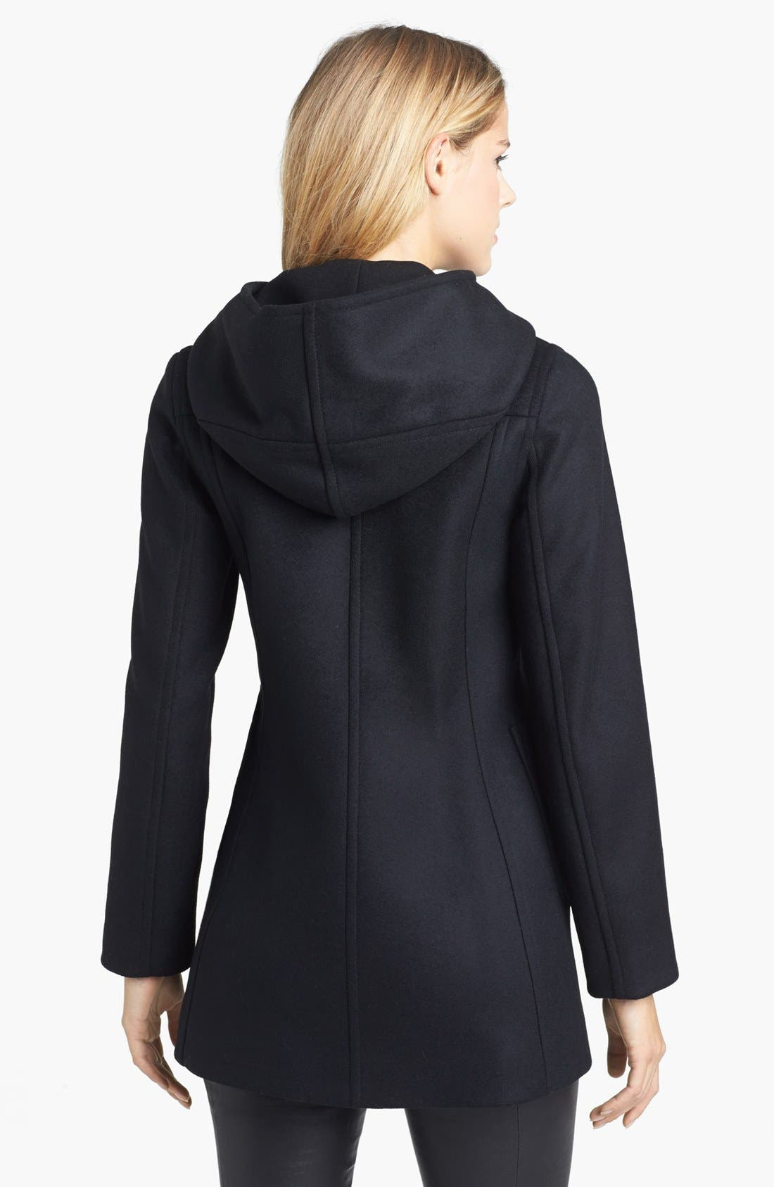 Alternate Image 2  - Kristen Blake Hooded Wool Blend Duffle Coat (Nordstrom Exclusive)