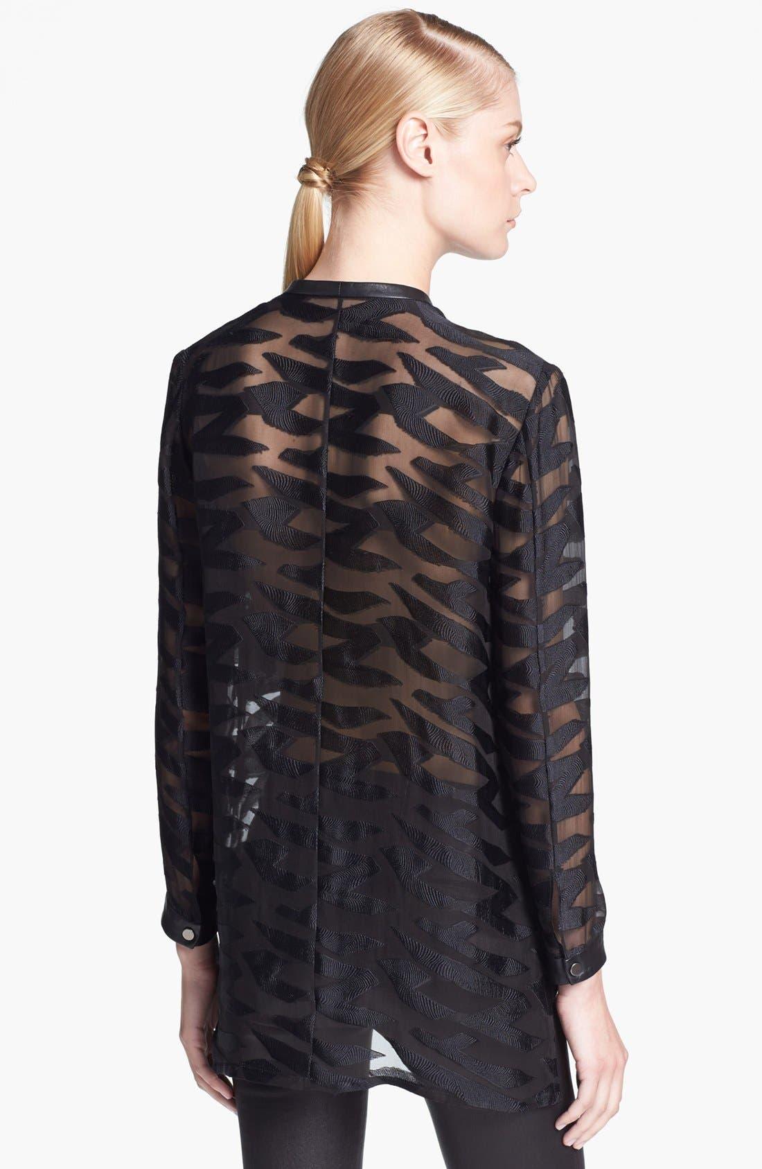 Alternate Image 2  - Helmut Lang Sheer Textured Blouse