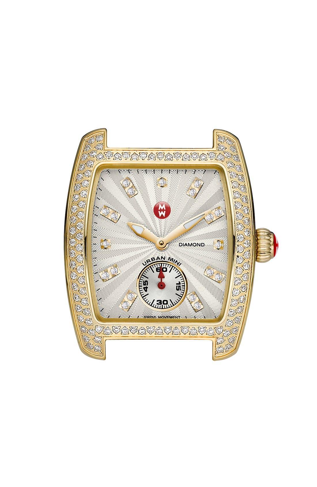 Alternate Image 1 Selected - MICHELE 'Urban Mini Diamond' Diamond Dial Watch Case, 29mm x 30mm
