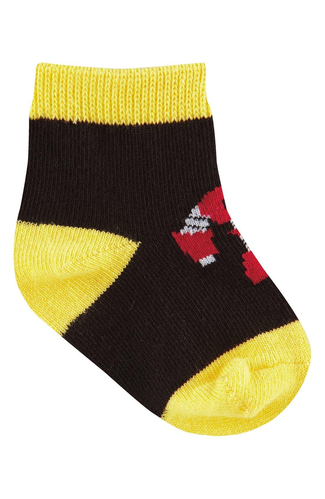 Alternate Image 4  - Sock It to Me 'Monkey, Mustache, Robot & Ninja' Socks (Set of 4) (Baby)