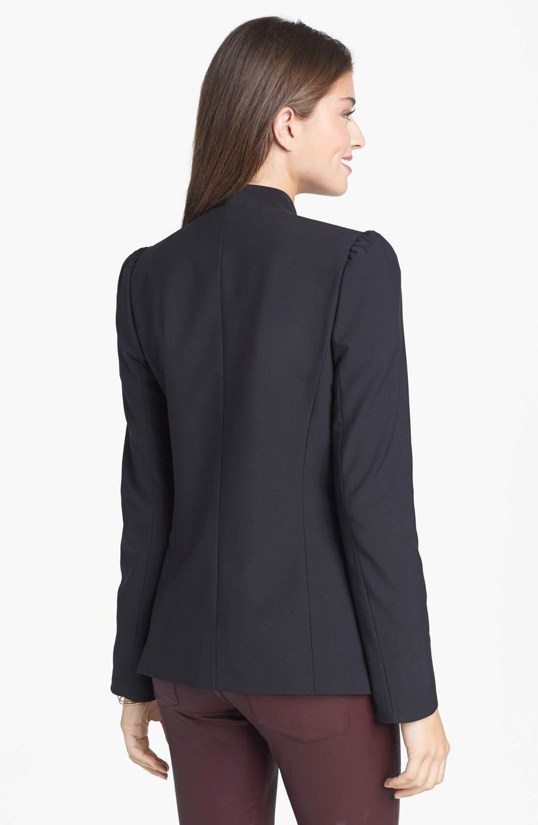 Alternate Image 2  - Frenchi® Puff Shoulder Blazer (Juniors)