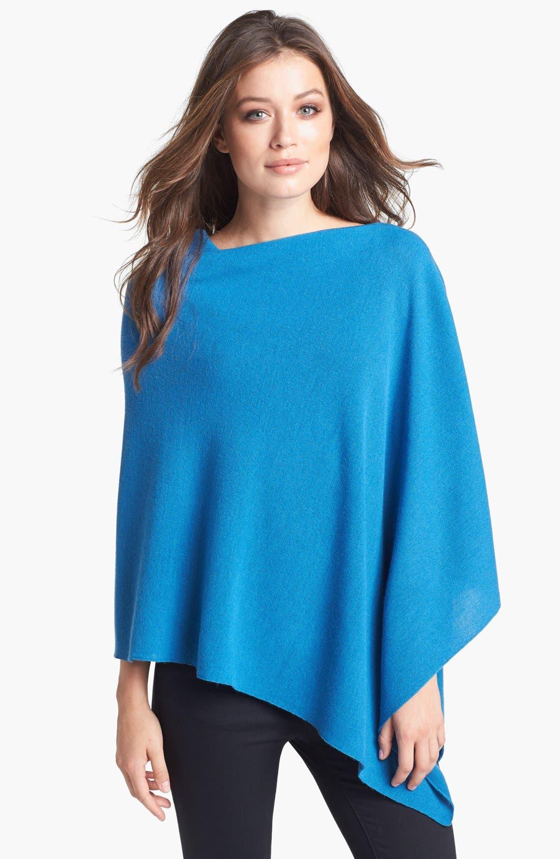 Alternate Image 1 Selected - Eileen Fisher Merino Wool Poncho