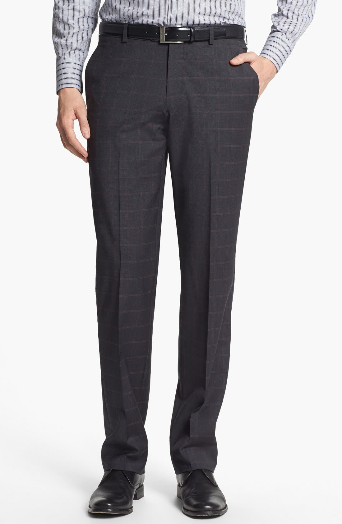 Alternate Image 5  - John Varvatos Star USA Trim Fit Three-Piece Wool Suit