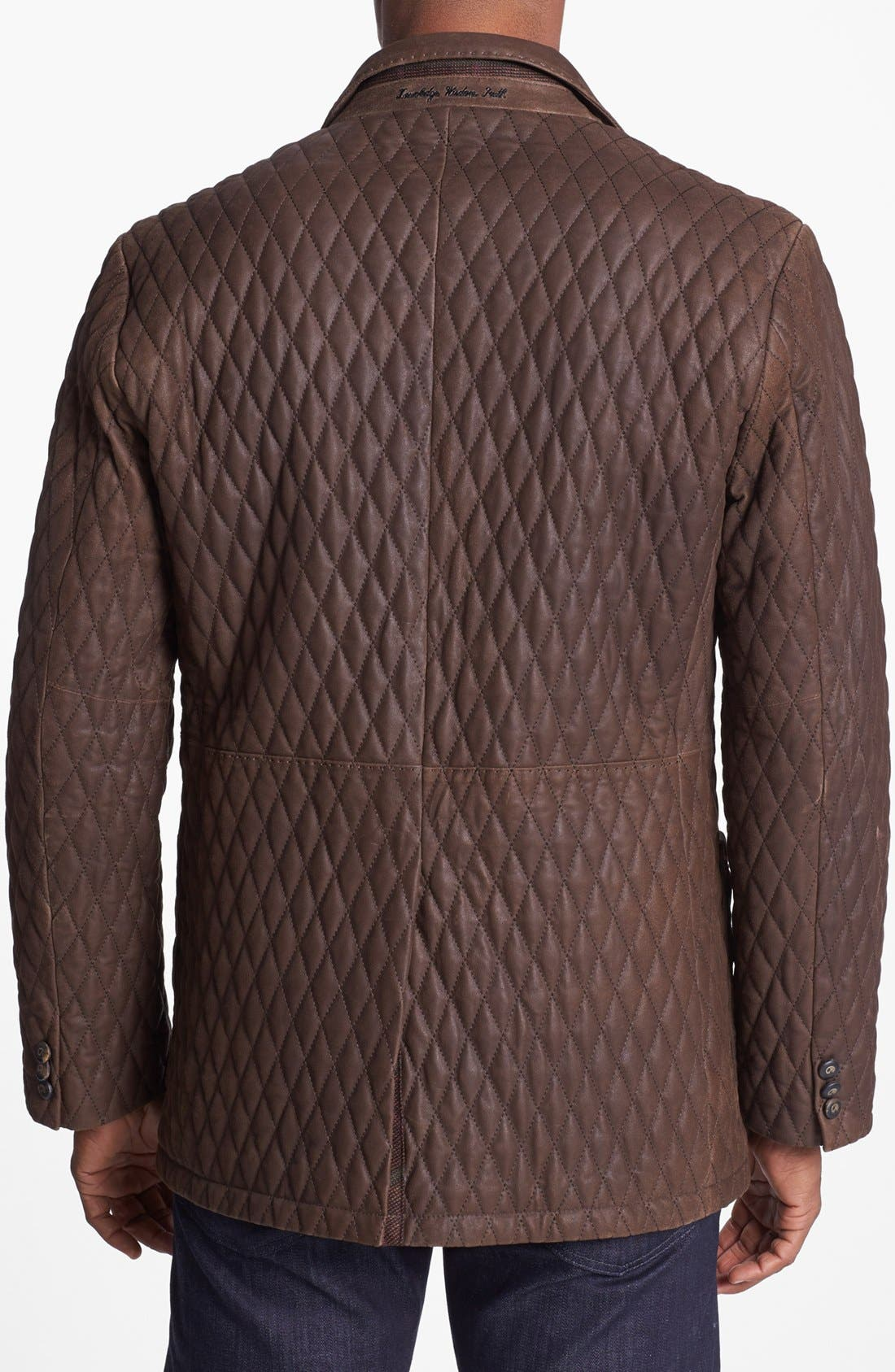 Alternate Image 2  - Robert Graham 'Miles' Quilted Suede Sportcoat