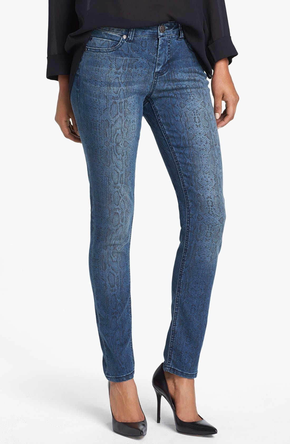 Alternate Image 1 Selected - Liverpool Jeans Company 'Abby' Print Skinny Jeans