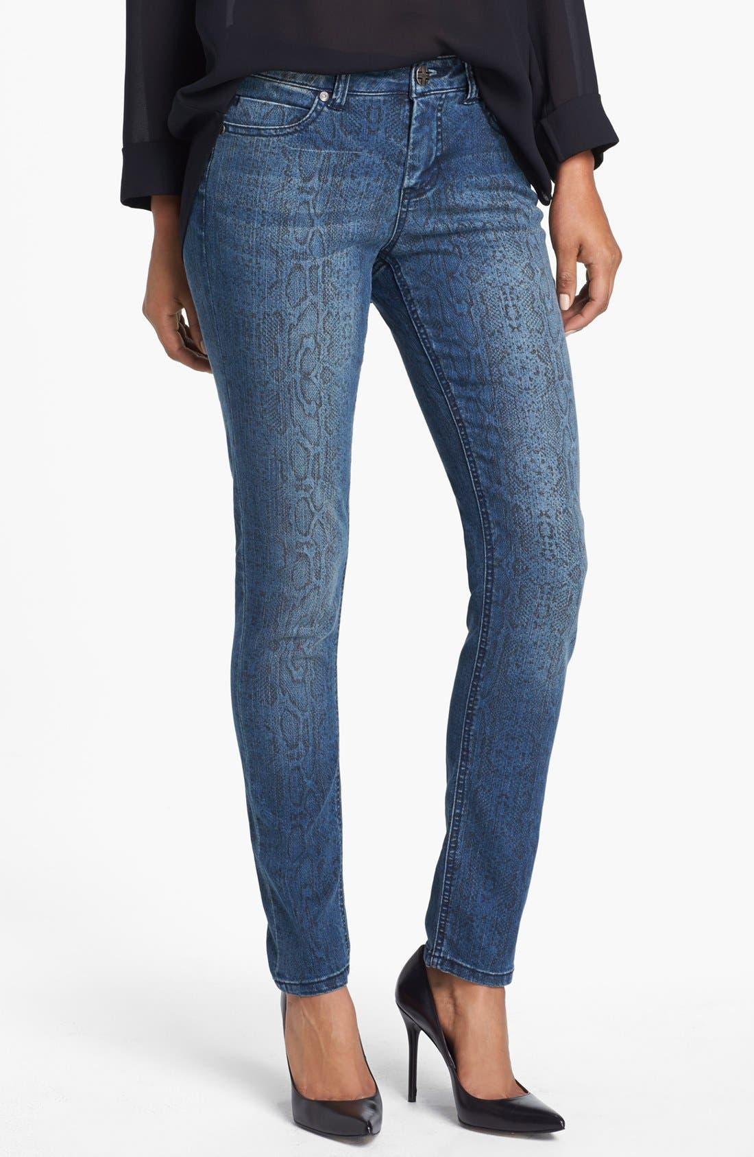 Main Image - Liverpool Jeans Company 'Abby' Print Skinny Jeans