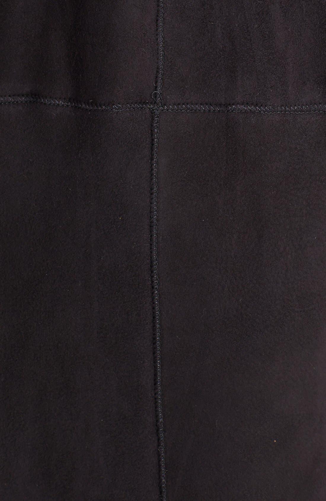 Alternate Image 3  - Blue Duck Stand Collar Genuine Merino Shearling Coat