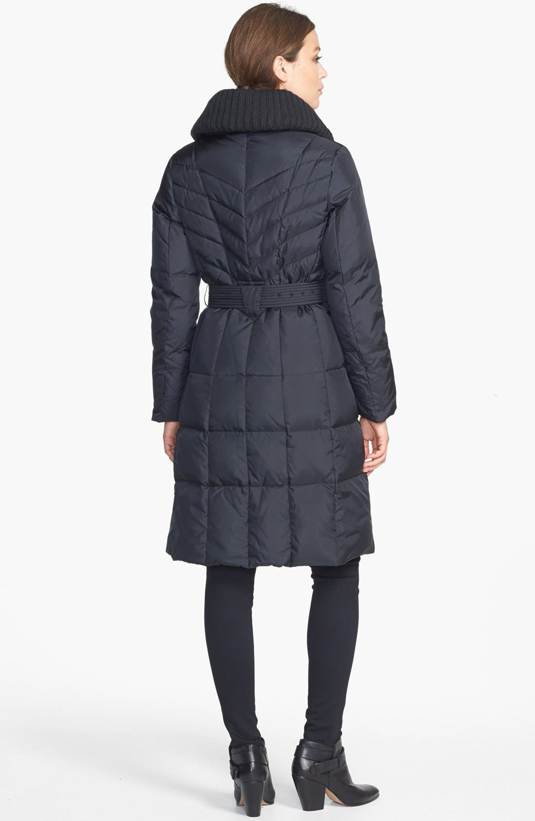 Alternate Image 2  - Cole Haan Knit Collar Down & Feather Coat