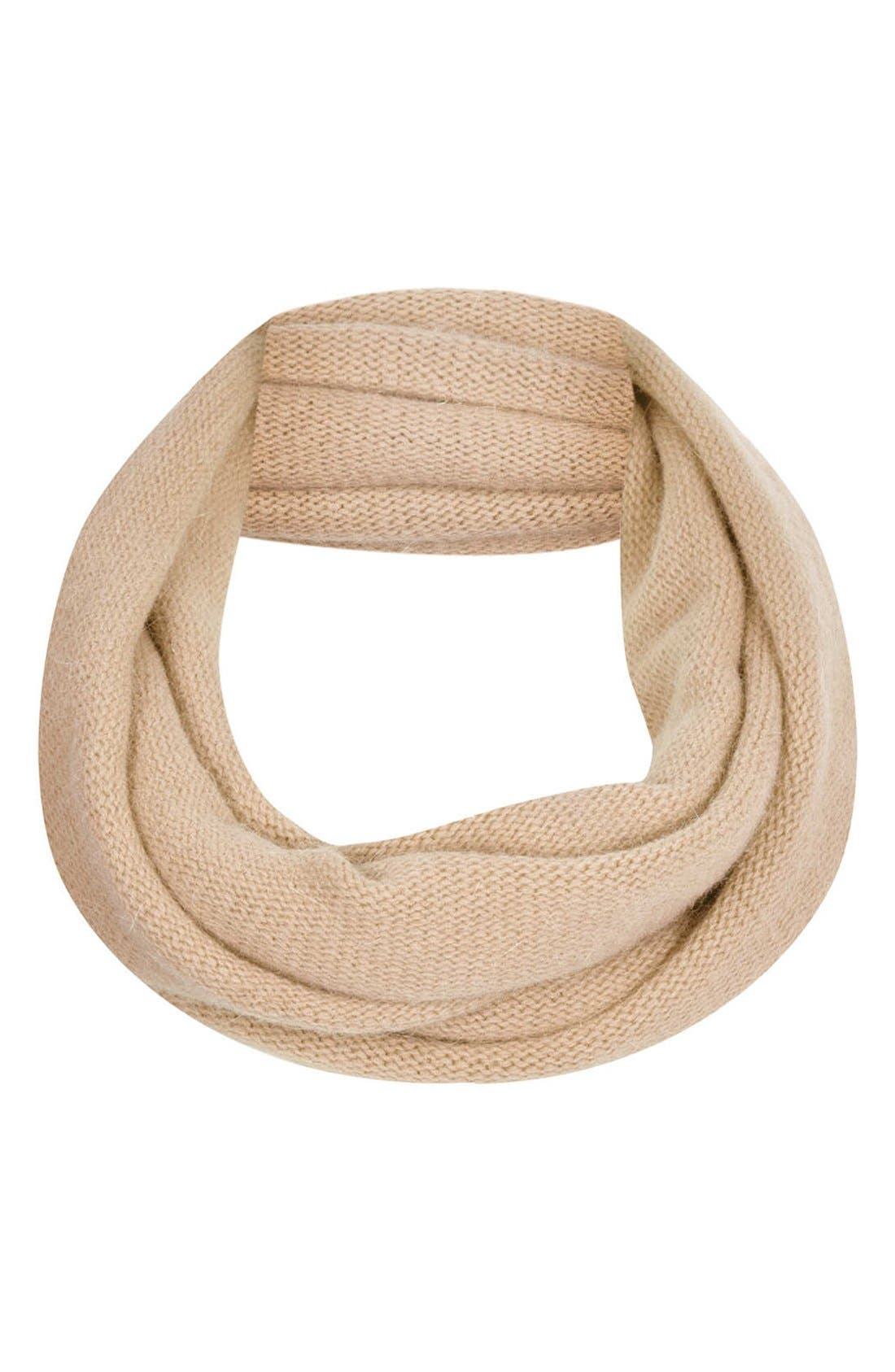 Alternate Image 1 Selected - Topshop Rolled Edge Infinity Scarf