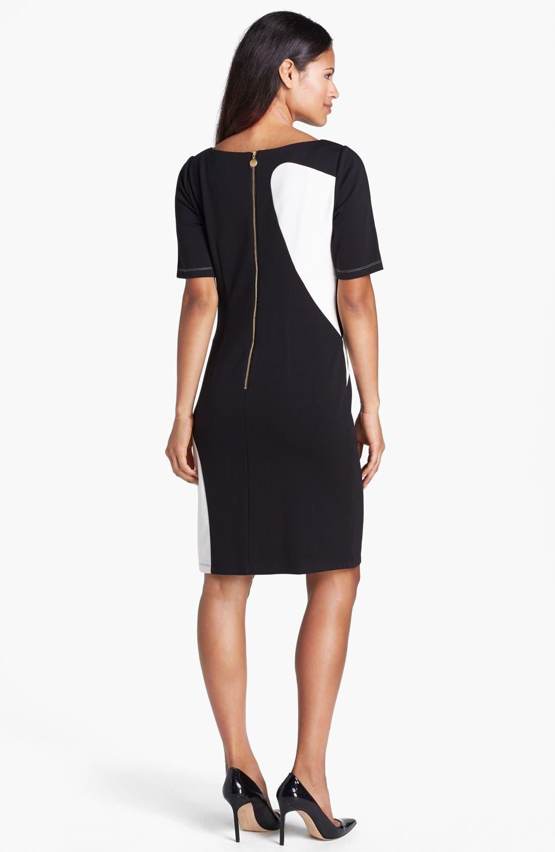 Alternate Image 3  - Ellen Tracy Colorblock Ponte Knit Sheath Dress