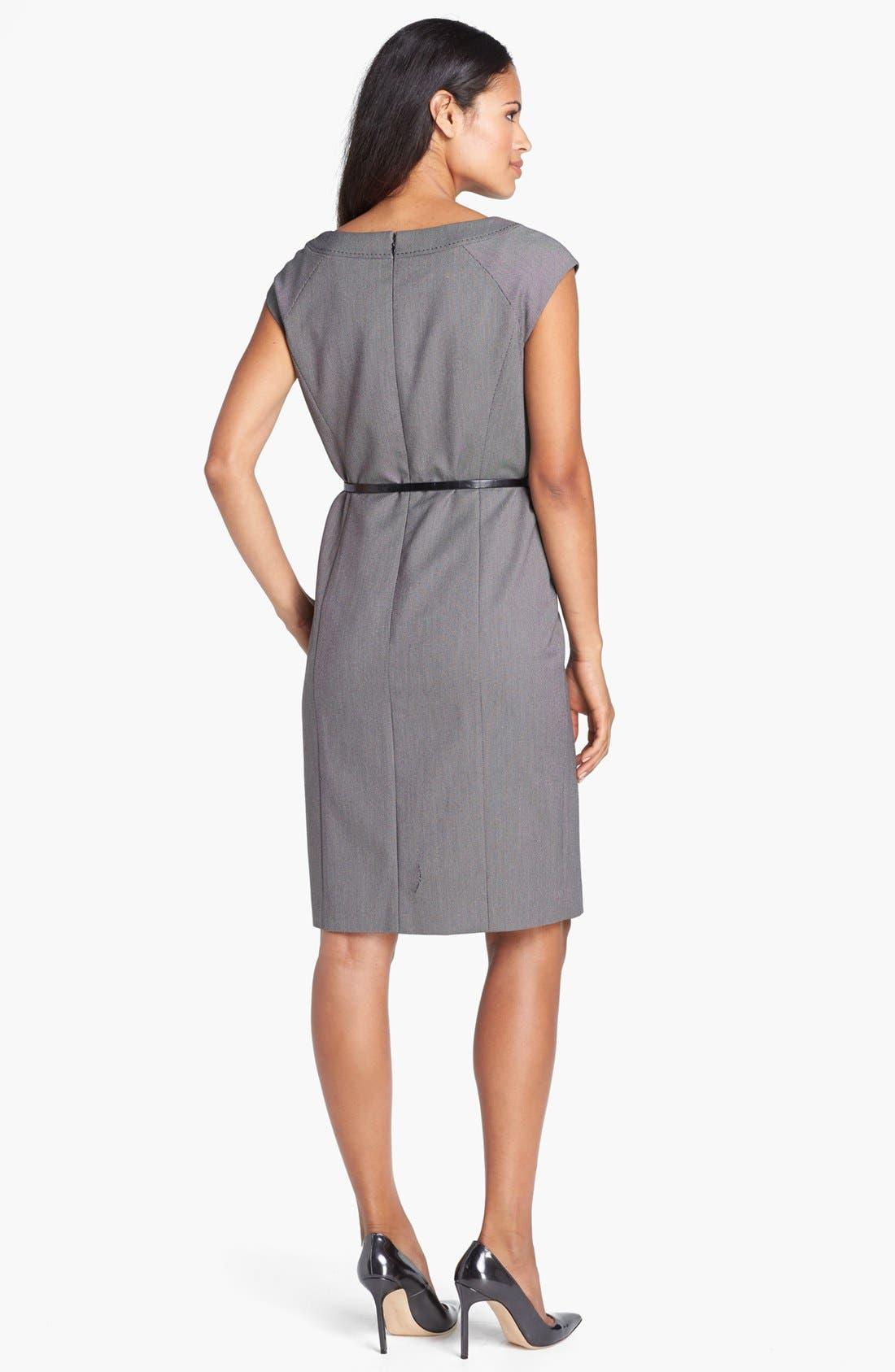 Alternate Image 2  - Jones New York 'Brooke - Birdseye' Cap Sleeve Dress