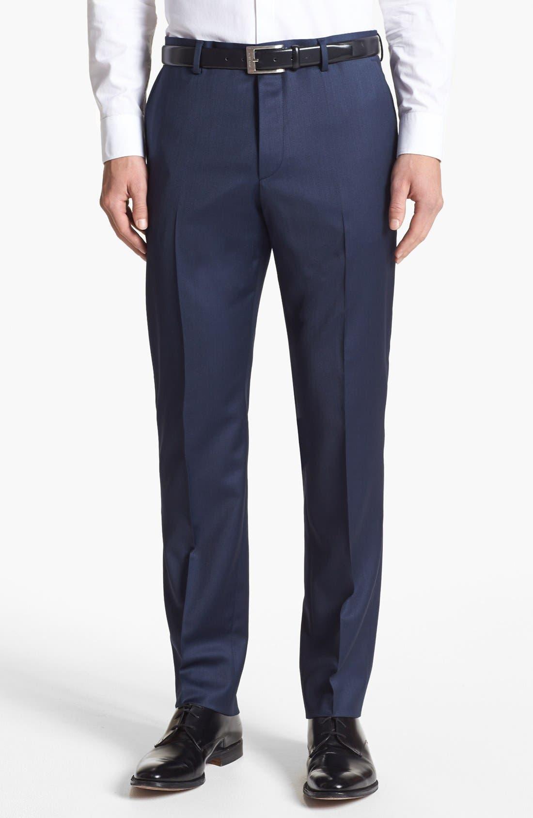 Alternate Image 4  - HUGO 'Aeron/Hamen' Trim Fit Wool Blend Suit