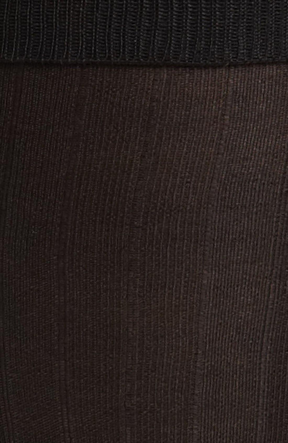 Alternate Image 2  - Pantherella Silk Ribbed Formal Socks (Online Only)