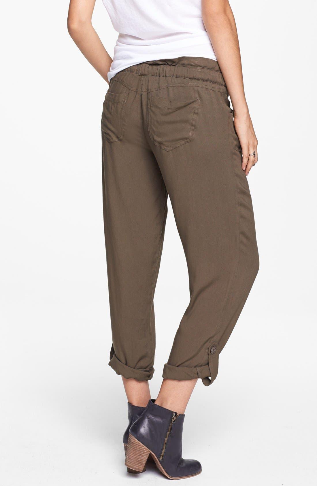 Alternate Image 2  - Jolt Drawstring Woven Pants (Juniors)