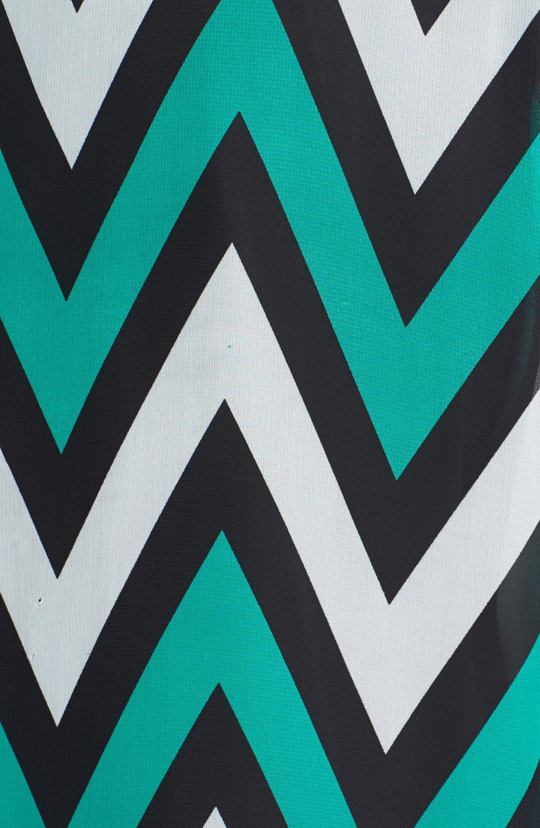 Alternate Image 3  - Kische Chevron Stripe Chiffon Tunic (Plus Size)