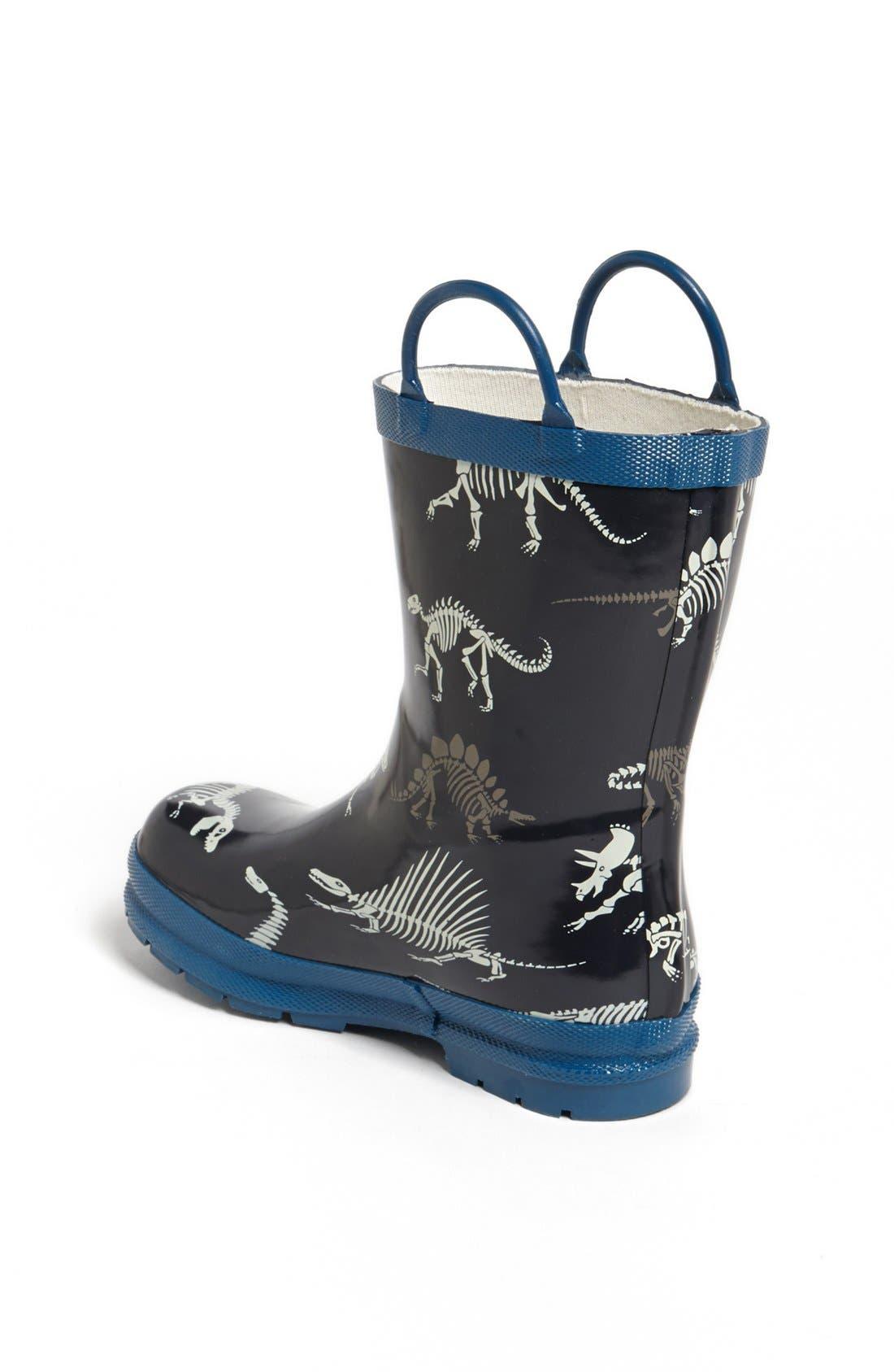 Alternate Image 2  - Hatley 'Dino Bones' Rain Boot (Walker, Toddler & Little Kid)