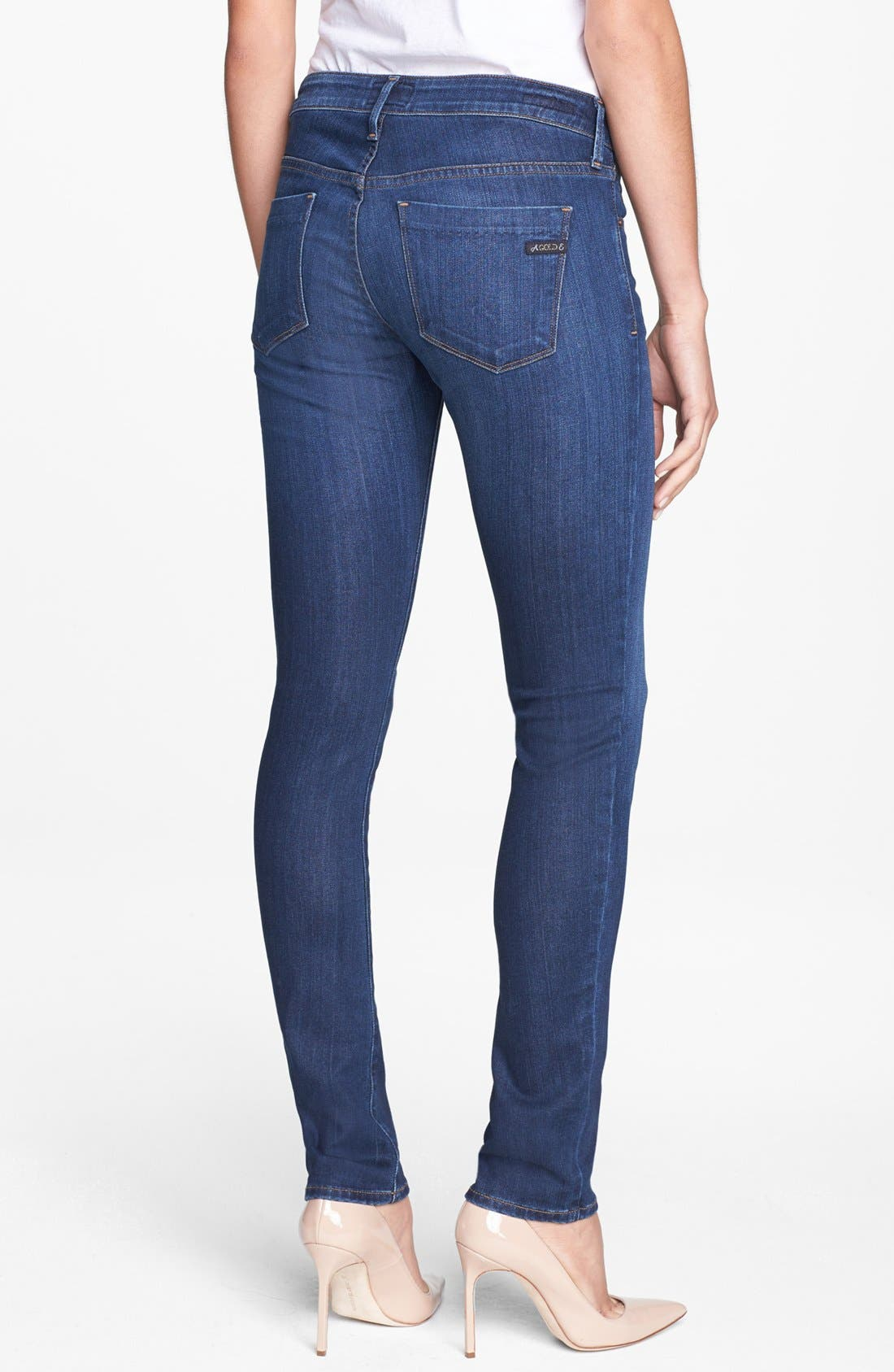 Alternate Image 2  - A Gold E 'Chloe' Slim Straight Leg Jeans (Tribeca)