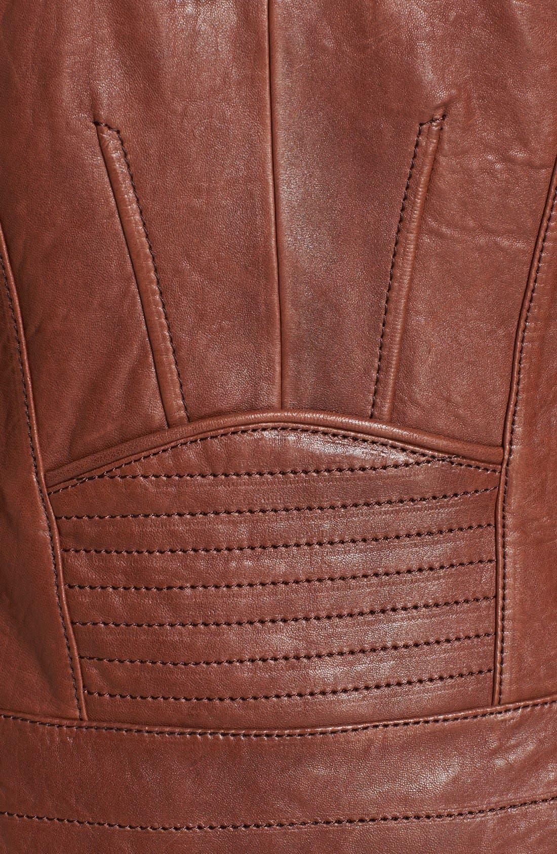Alternate Image 3  - Andrew Marc 'Shay' Hooded Insert Leather Jacket
