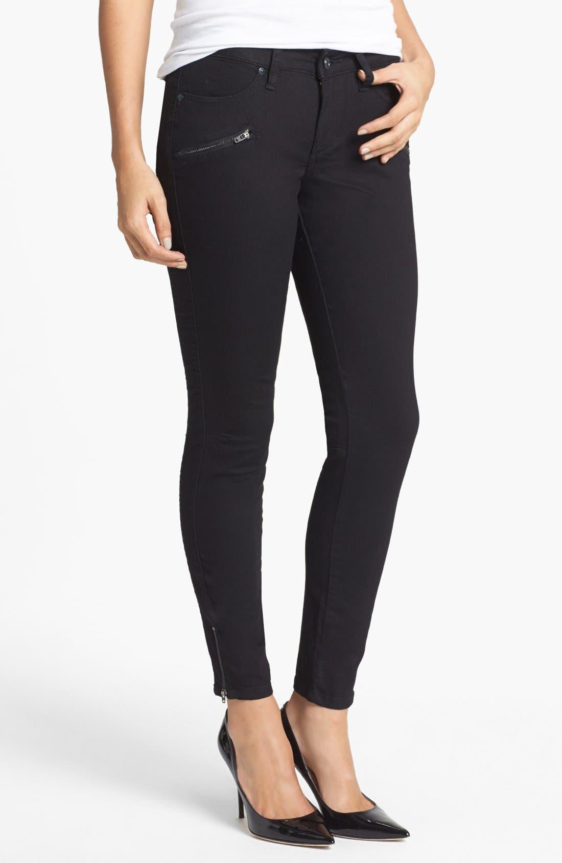 Alternate Image 1 Selected - Jag Jeans 'Bren' Zip Detail Skinny Jeans