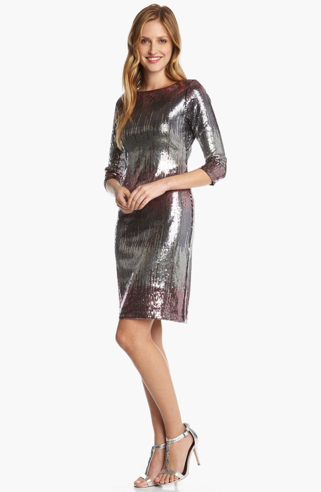 Alternate Image 2  - Karen Kane 'Versailles' Sequin Dress