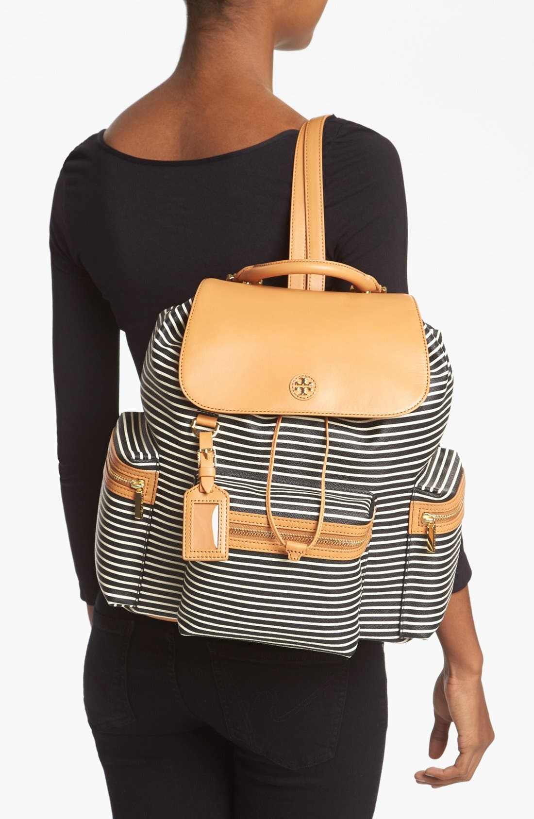 Alternate Image 2  - Tory Burch 'Viva' Canvas & Leather Backpack