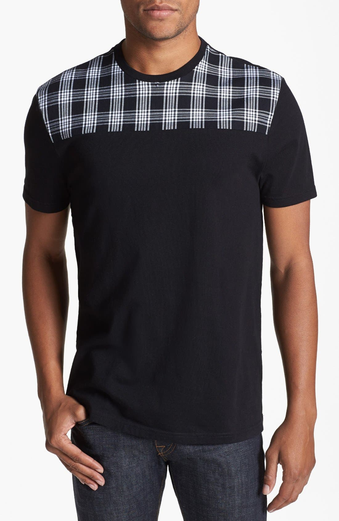 Alternate Image 1 Selected - Topman Pattern Yoke T-Shirt