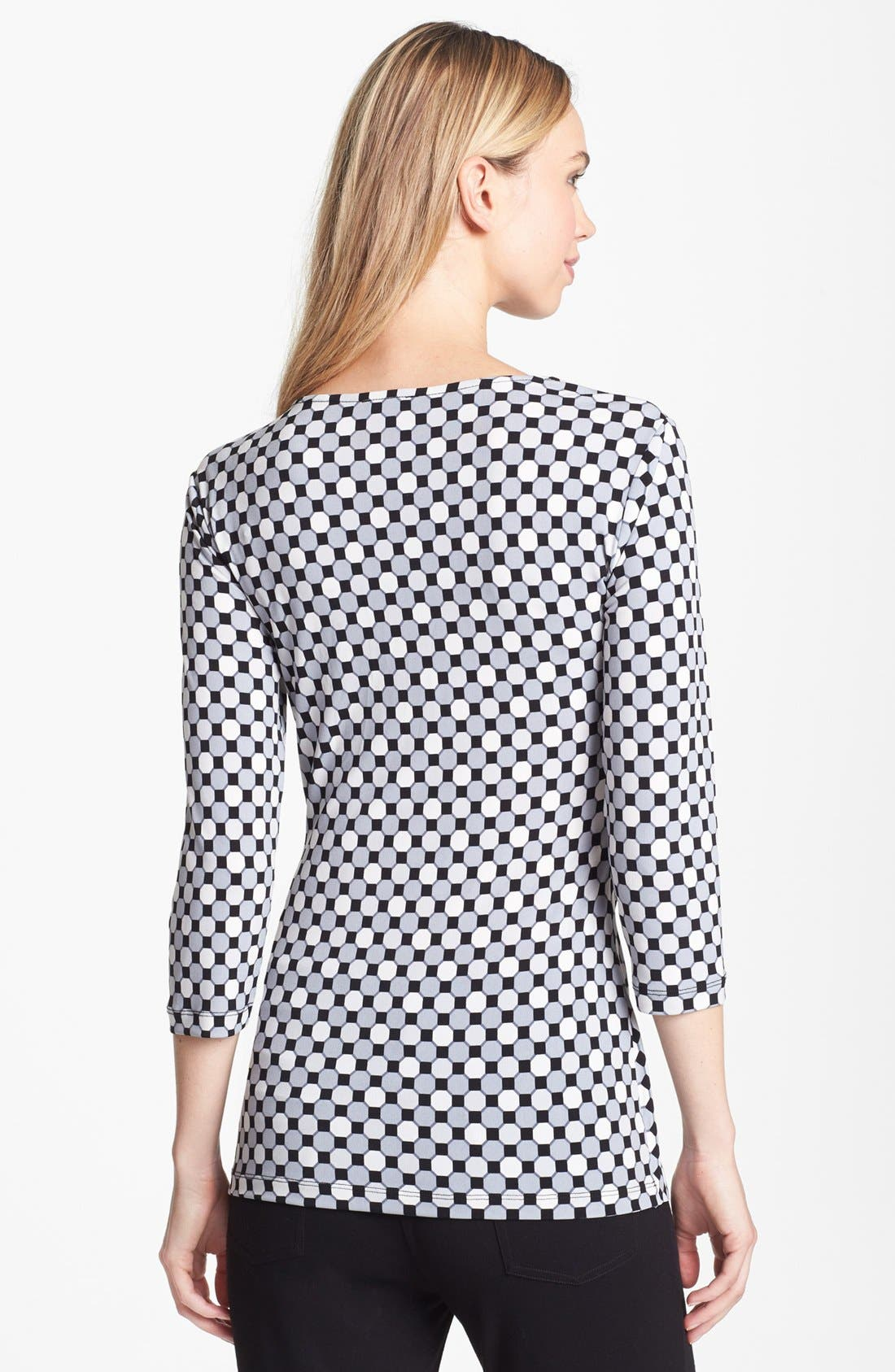 Alternate Image 2  - Vince Camuto Geometric Print Side Drape Top