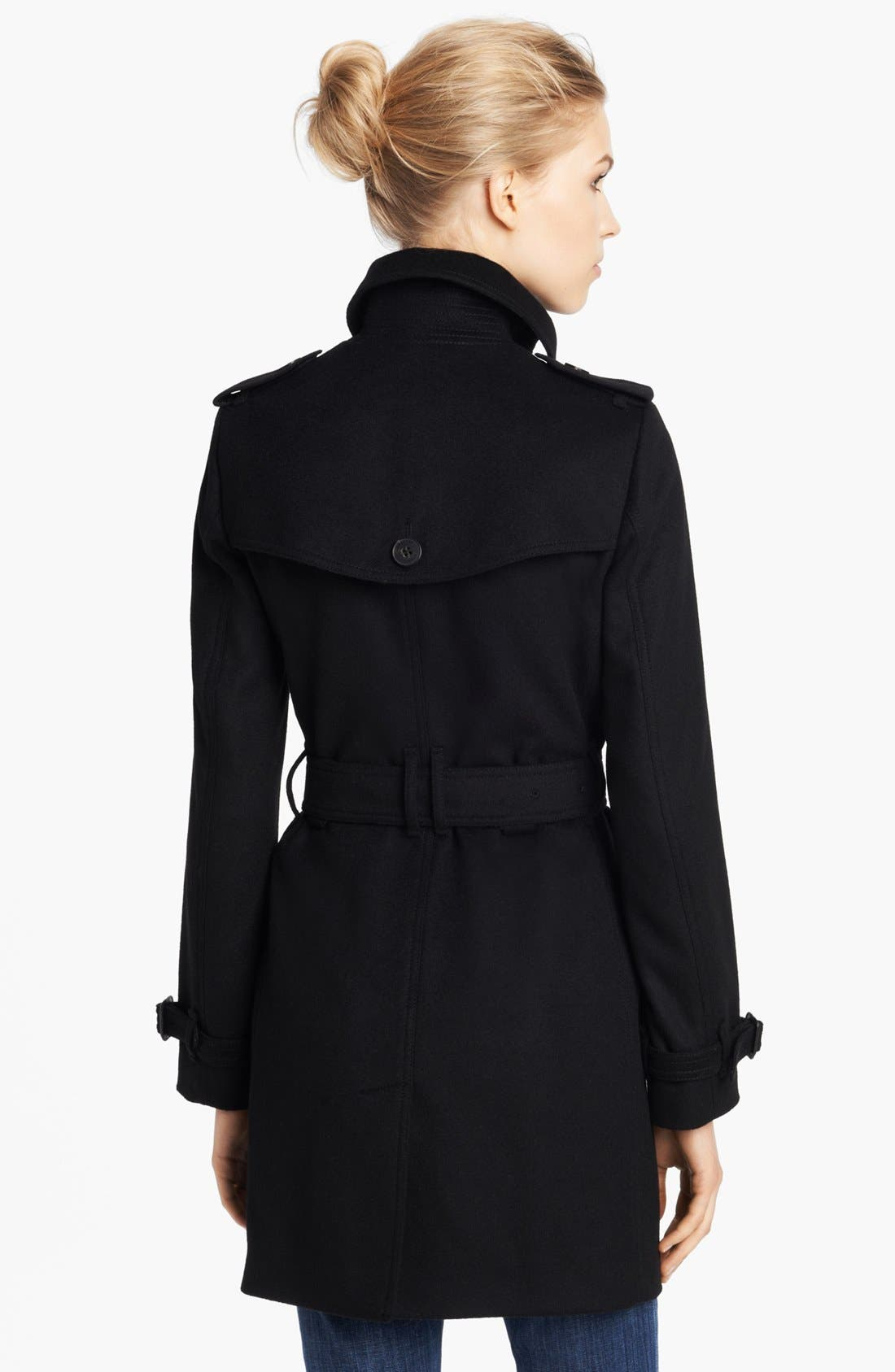 Alternate Image 2  - Burberry London Double Breasted Wool & Cashmere Coat