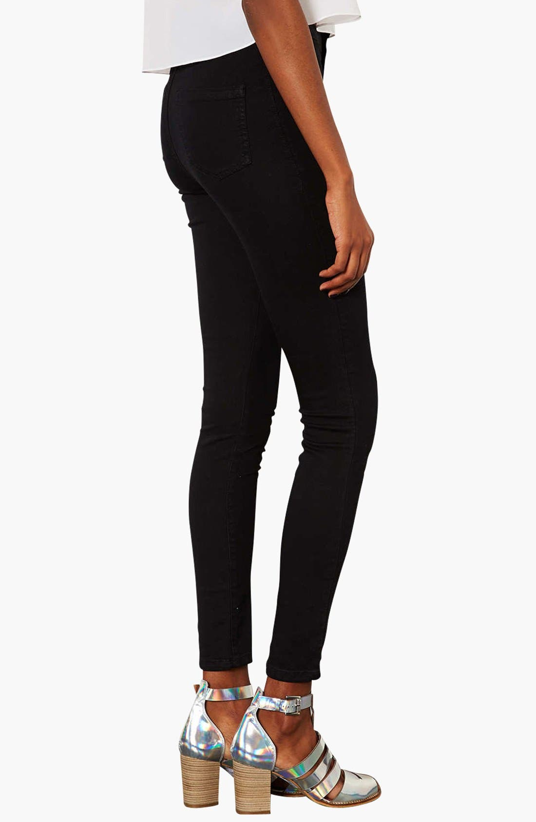 Alternate Image 2  - Topshop Moto 'Joni' High Rise Skinny Jeans (Regular & Short)