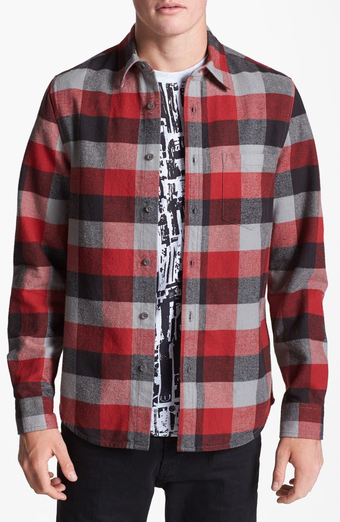 Main Image - Topman Buffalo Check Shirt