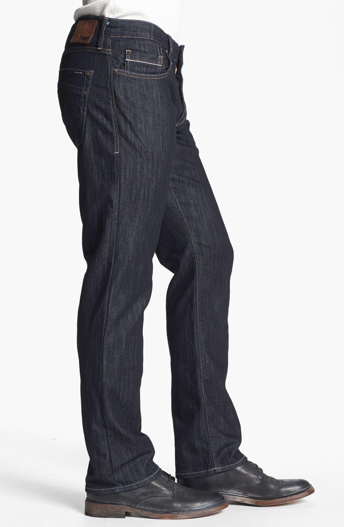 Alternate Image 3  - Mavi Jeans 'Zach' Straight Leg Jeans (Rinse Kensington)